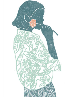 "Illustration and pattern ""Girl from la Serena"""
