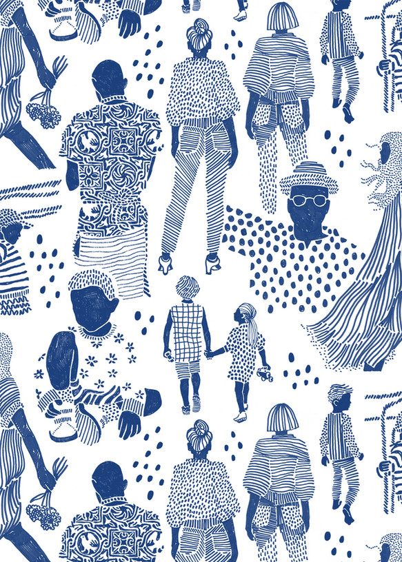 "Pattern ""People in blue"""