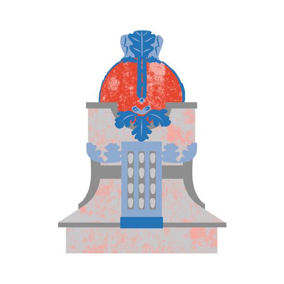"""Illustration """"Statue of Riksäpple"""""""