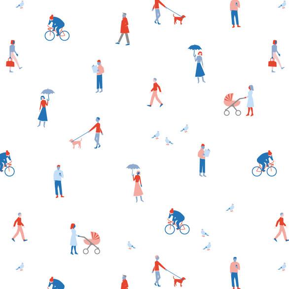 """Pattern """"Folks of Gröndal"""""""