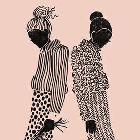 "Illustrations ""Pattern girls"""