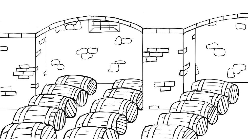 Weinkeller Zeichnung