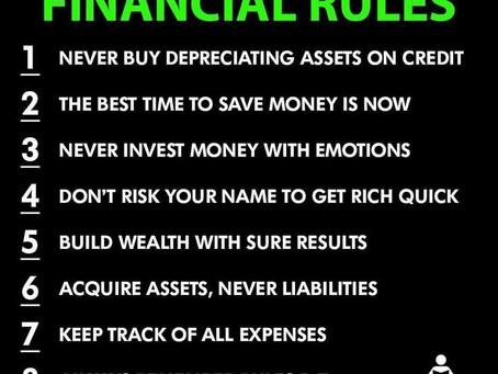 Never break these financial rules