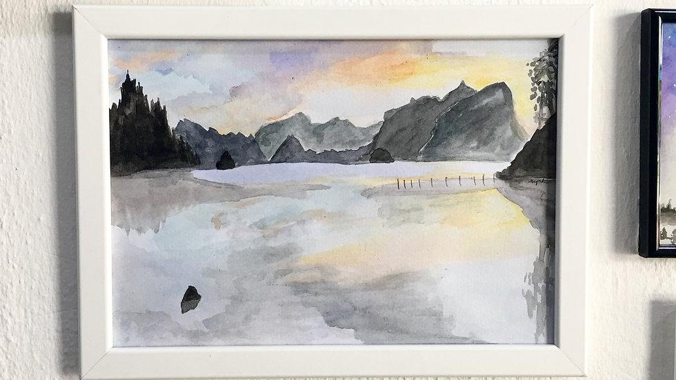 The Mountain Resounds Art