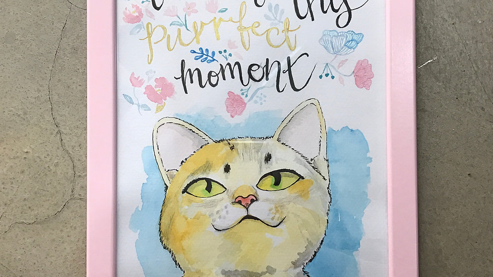 Live in the Purrfect Moment Art