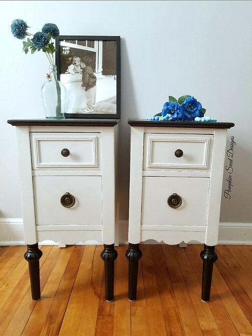 Farmhouse Nightstand Pair