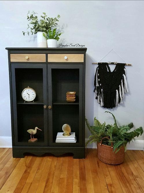 Black Antique Bookcase/Cabinet