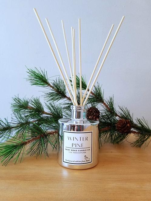 Winter Pine Reed Diffuser- Chrome Bottle