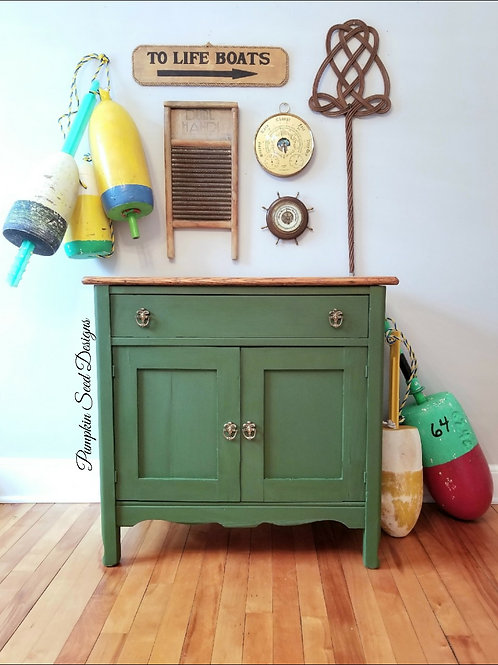 Lily Pad Farmhouse Cabinet