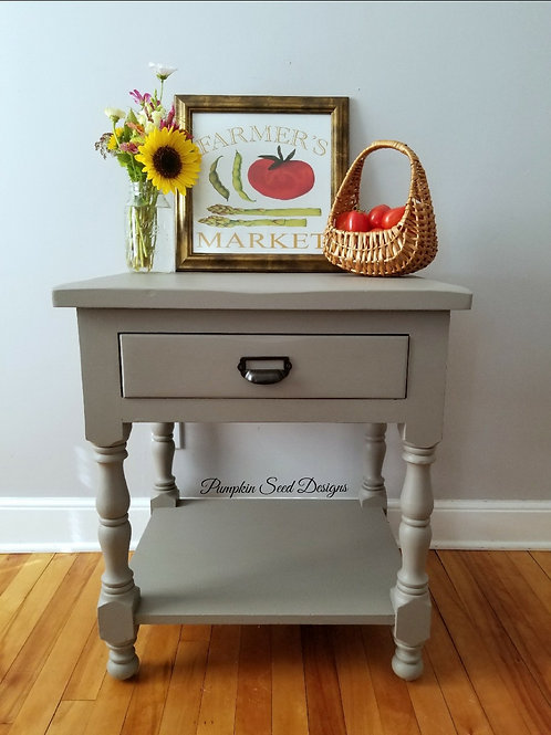English Tapestry Side Table