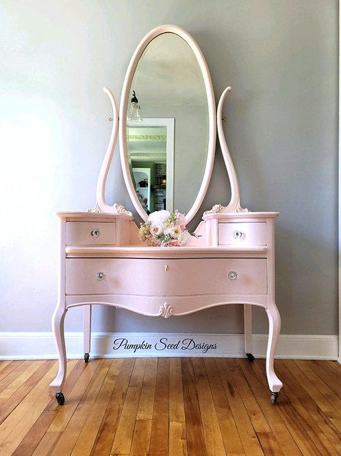 'Forever Pink' Serpentine Princess Dresser