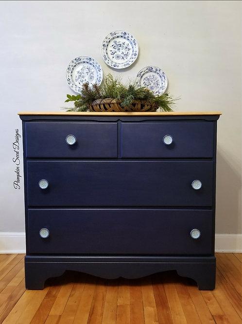 True Navy 3-Drawer Dresser