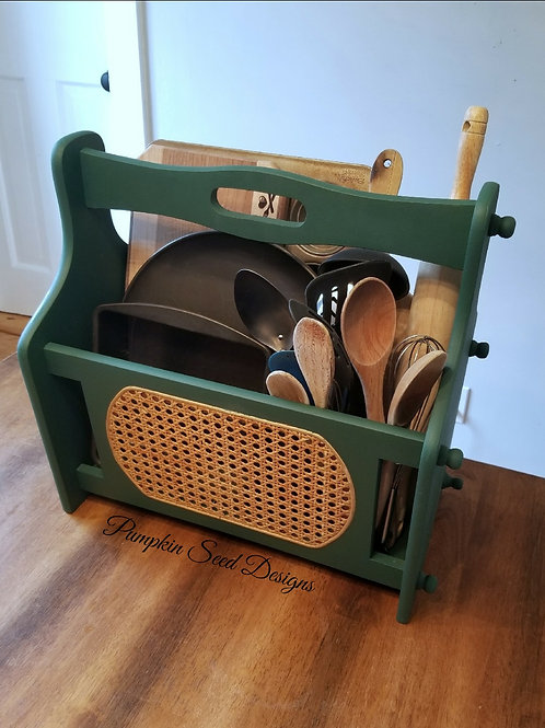 Vintage Magazine Rack/Storage Caddy