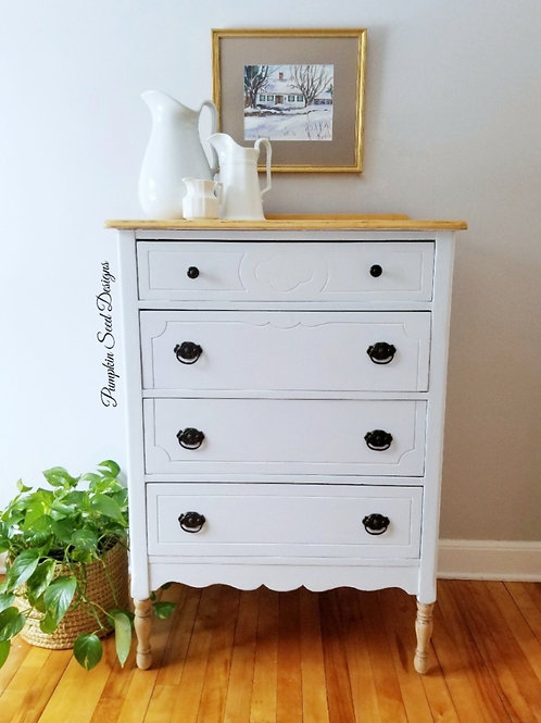 Classic White Farmhouse Dresser