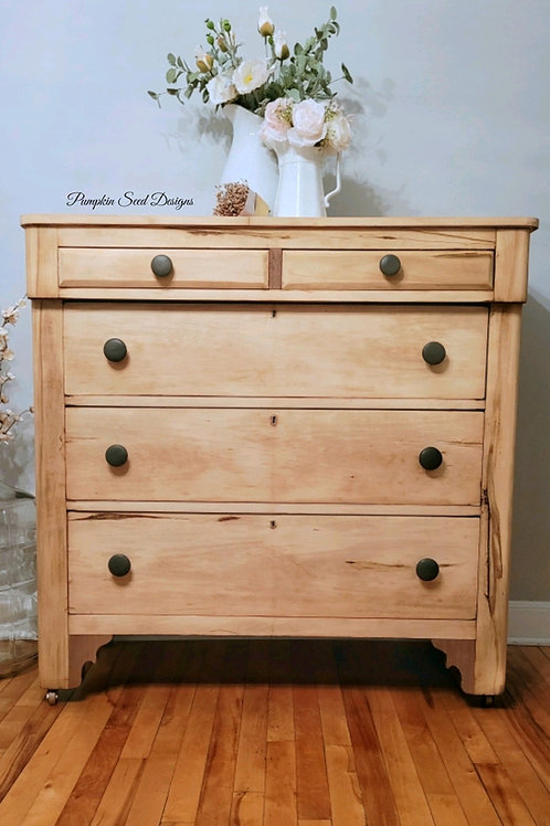 Natural Wood Empire Dresser