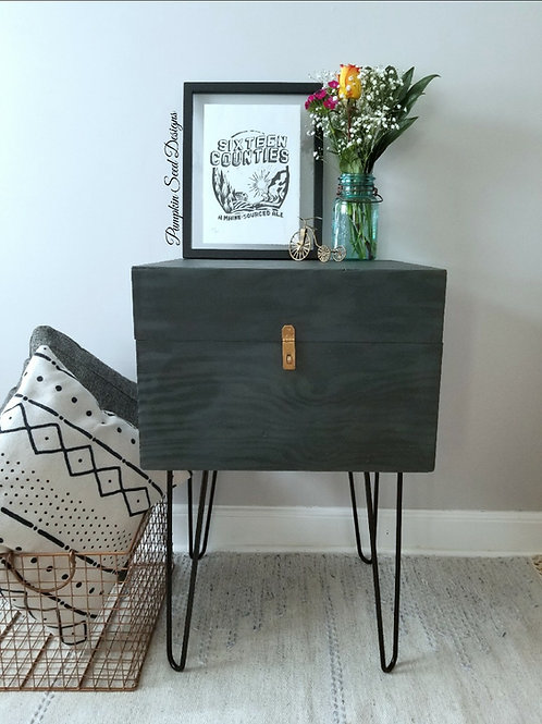 Modern Side Table with Storage