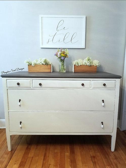 White & Gray Dresser