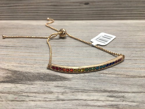 Rainbow Pull-tie Bracelet