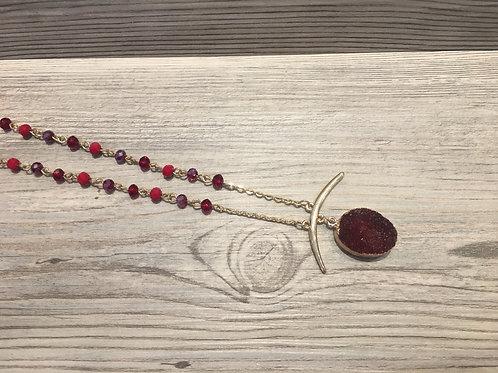 Druzy Stone Pendant Necklace