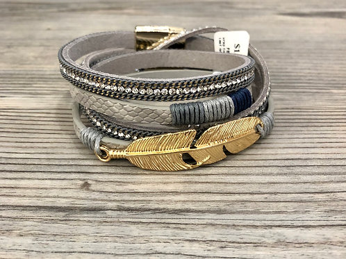 Feather Wrap Magnetic Bracelet