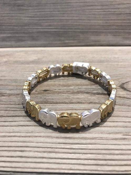 Multi-Tone Elephant Stretch Bracelet
