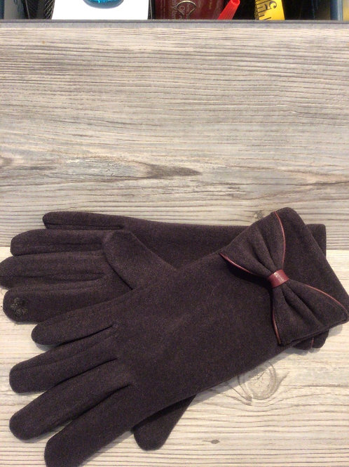 Solid Touch Gloves w/ Bow Detail