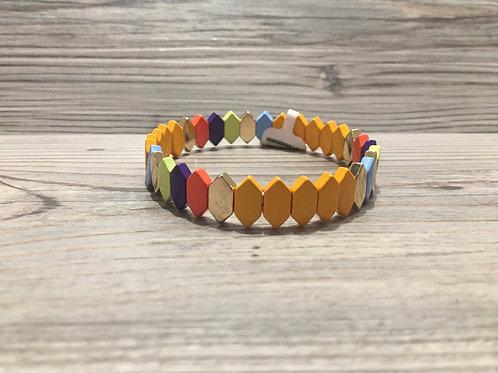 Color Block Stretch Bracelet