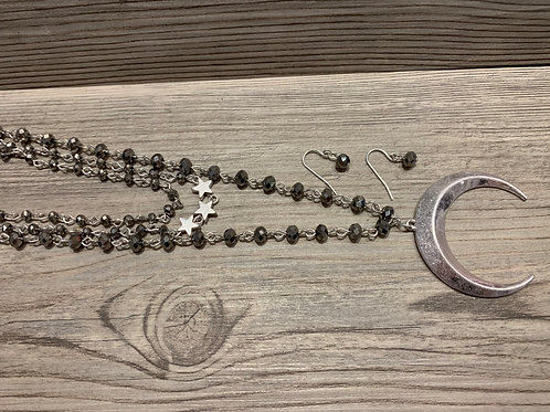 Star and Moon Layered Necklace