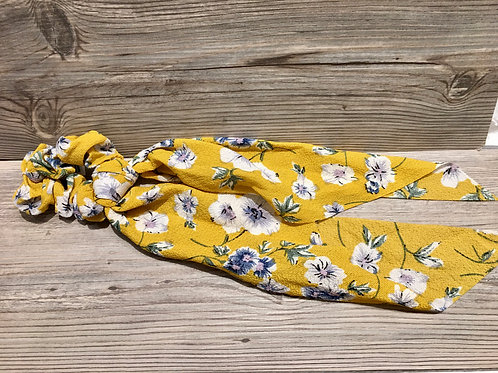 Floral Scrunchie Scarf