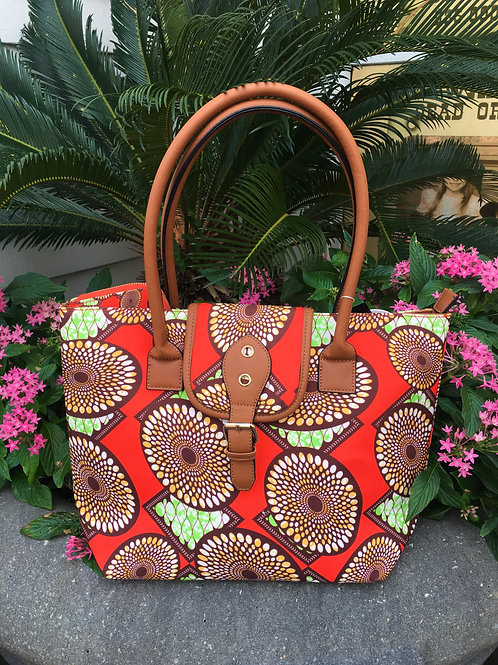 Spiral Printed Tote with Wallet