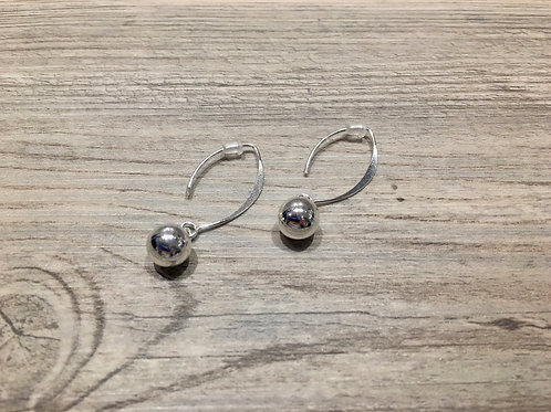 8mm Sterling Silver Dangle Earring
