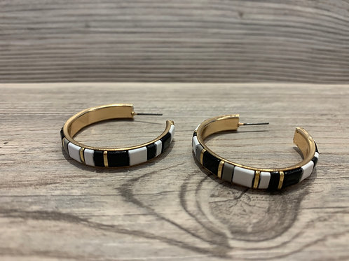 Fashion Hoop Colorblock Earring
