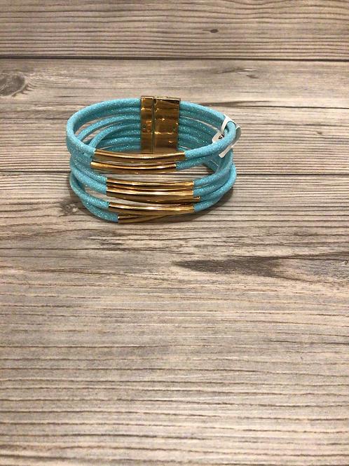 Blue Sparkle Magnetic Bracelet