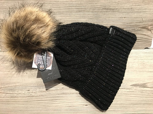 Knit Beanie with Hidden Color