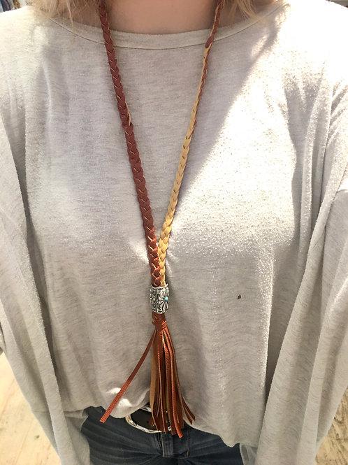 Western Braided Tassel Necklace