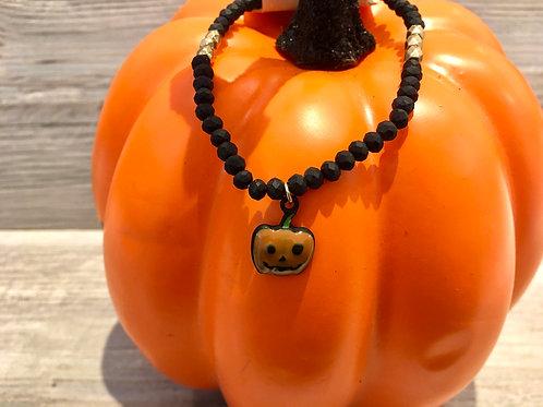 Pumpkin Beaded Bracelet