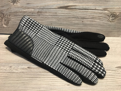 Houndstooth Touch Print Gloves