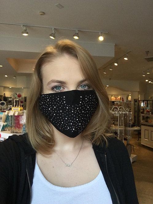 Black Bling Face Mask