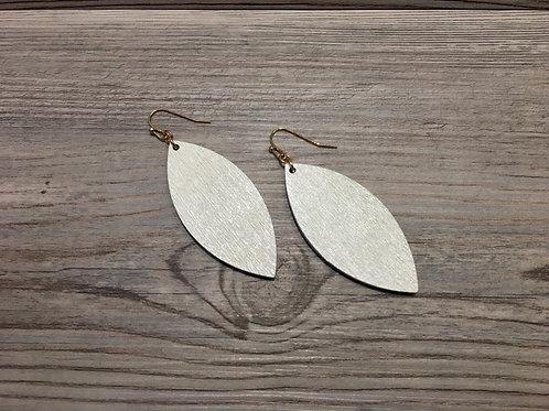 Wood Point Dangle Earrings