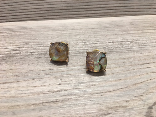 Square Gemstone Studs