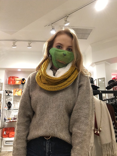 Cable Knit Snood with Lining
