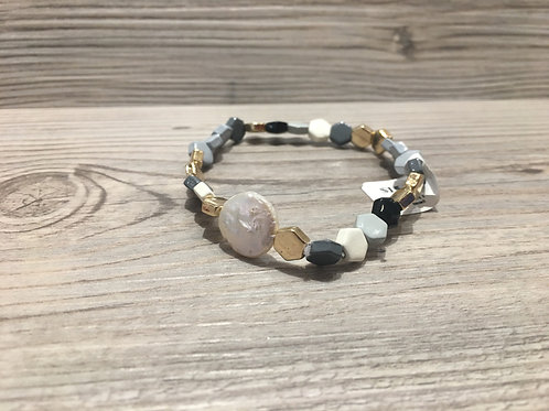 Colored Bead Stretch Bracelet