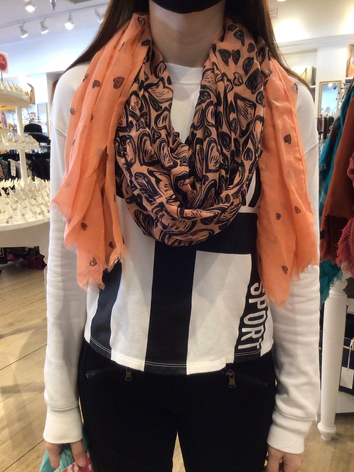 Two Tone Heart Scarf
