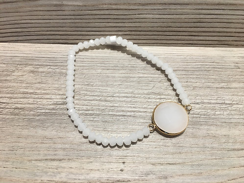 Round Beaded Stretch Bracelet