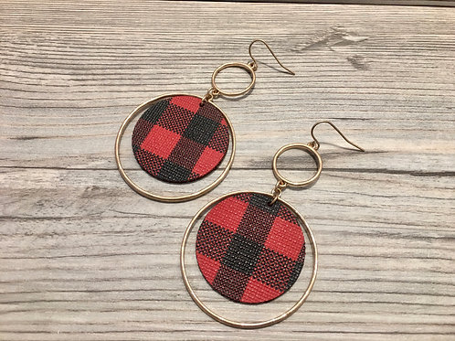 Ring Plaid Earrings