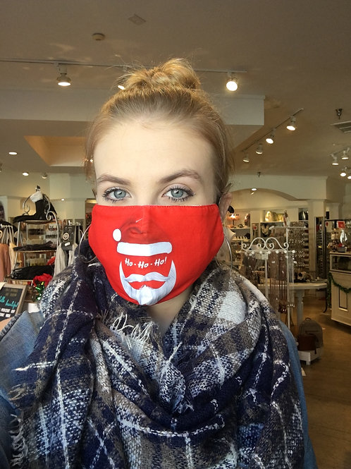 Ho Ho Ho Holiday Face Mask