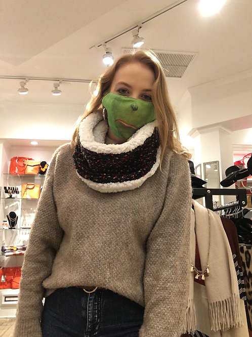 Confetti Knit Snood with Lining