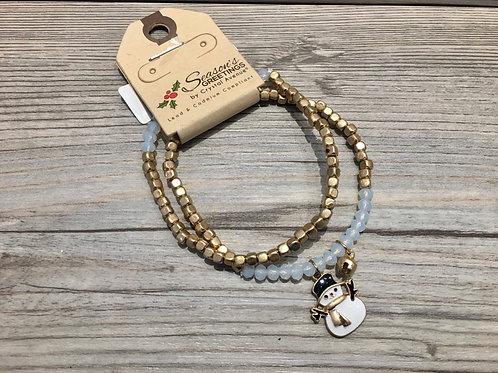Snowman Bracelet Set