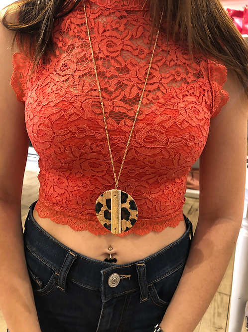 Cheetah Cork Necklace Set
