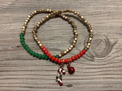 Candy Cane Bracelet Set